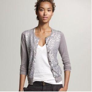 J. Crew Ombre Paillette Sequin Cardigan Sweater S